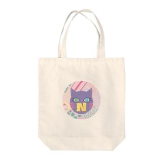 N猫♡パープル Tote bags