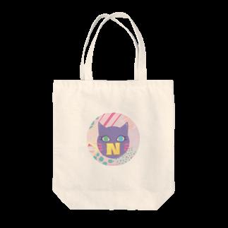 猫屋のN猫♡パープル Tote bags