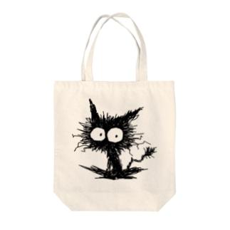 黒くてガビガビした毛の子猫 Tote bags