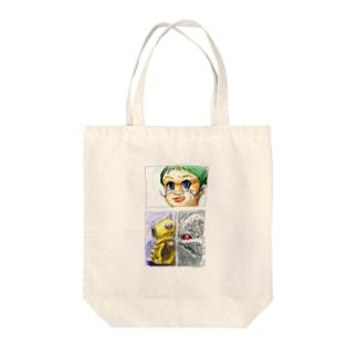 ヤノベケンジ《サン・チャイルド》(コマ割りカラー) トートバッグ
