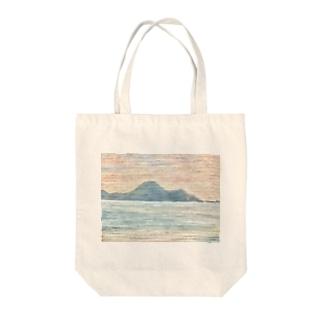 箕沖から仙酔島''' Tote bags