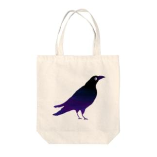 カラス Tote bags