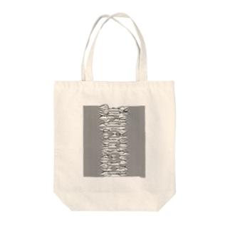 束波 / たばなみ (黒,縦) Tote bags