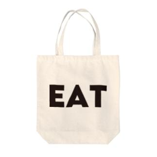 EAT Tote bags
