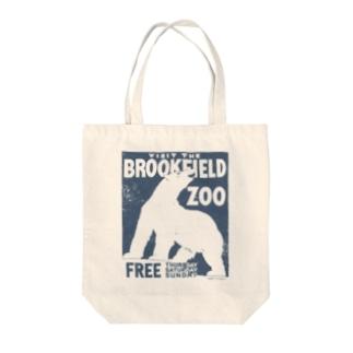 ヴィンテージポスタートートバッグ(動物園/シロクマ) Tote bags