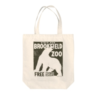 PD selectionのヴィンテージポスタートートバッグ(動物園/シロクマ) Tote bags