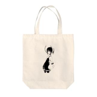 器が空の女性 Tote bags