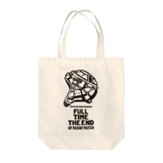 FULL TIME THE END OF RUGBY MATCH Tote bags