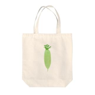 yorimichiのだいこん Tote bags