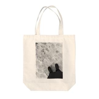 冬のあしあと Tote bags