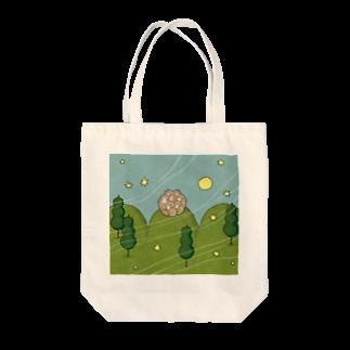 udoのお団子山のさるだんご Tote bags