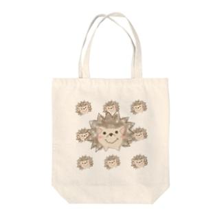 クレヨンハリネズミ Tote bags