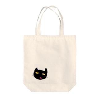 ネコセンター長 Tote bags