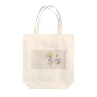 花とりぼん Tote bags