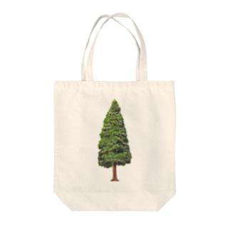 ゆざわグリーン Tote bags