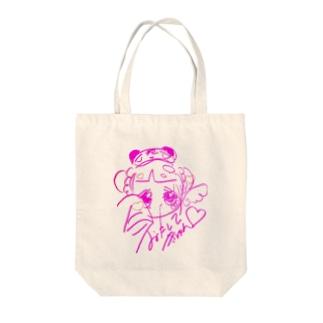 ぴんくてんちゃんとーとばっぐ Tote bags