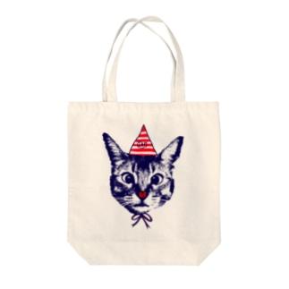 Nobigaoてんとうむし猫 Tote bags
