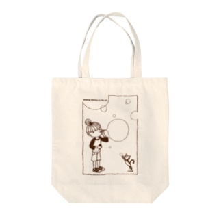 Blowing bubbles Tote bags