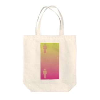 錯覚シリーズ vo.1 ピクトグラムは同じ色 Tote bags