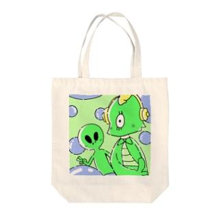 エイリアンくん Tote bags