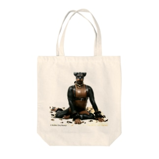 Rubber dog Tote bags