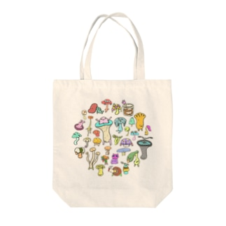 秋のきのこ族 Tote bags