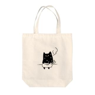 サウナねこちゃん Tote bags