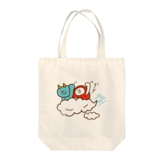 盆ちゃんとポッピ、お空をドライブするの巻 Tote bags