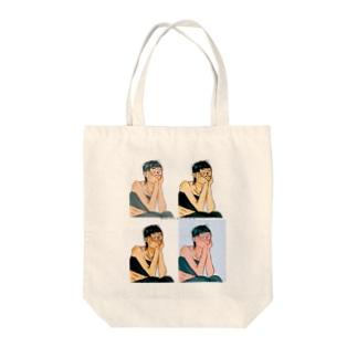 ボコボコ Tote bags