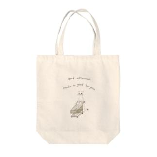 オコジョの買い物 Tote bags
