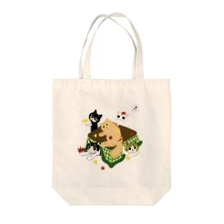 にゃんこオールスターズの秋の便り Tote bags