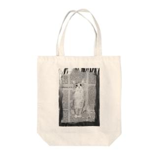 hamamecat_mono Tote bags
