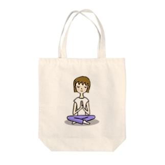 PEACE YOGA Tote bags