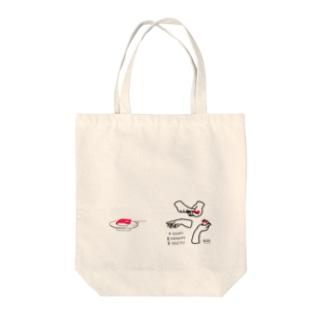 寿司ダーツ Tote bags