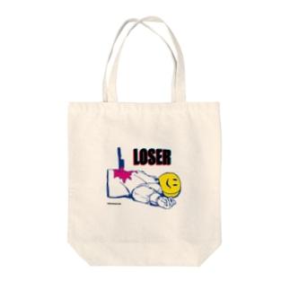 スマイリールーザー Tote bags
