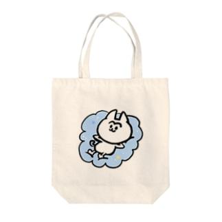 雲の上のまゆげねこ Tote bags