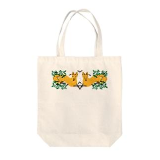 ロールシャッハFOX Tote bags