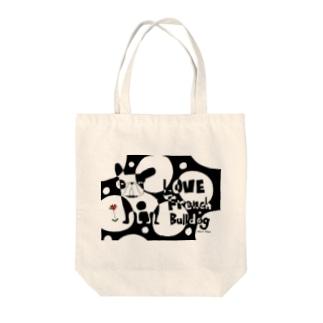 LOVE FRENCH-BULLDOG Tote bags