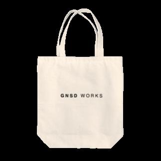 gnsdworksのGNSD WORKS ロゴ Tote bags