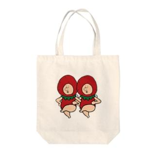 いちごの妖精さん Tote bags