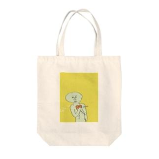 ハァハァハァ Tote bags