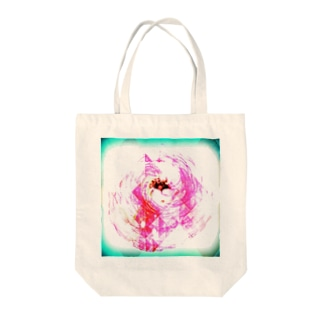 PINK×greenFLOWER Tote bags