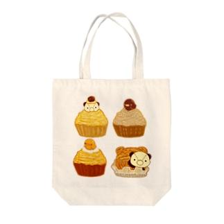 ぱんだひよこモンブラン Tote bags