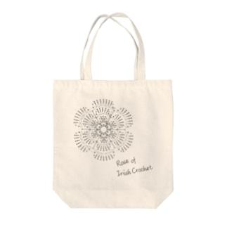 編み図トートバッグ-アイリッシュクロッシェのバラ Tote Bag