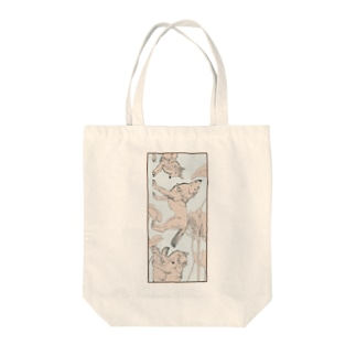 白盆 White August Tote bags