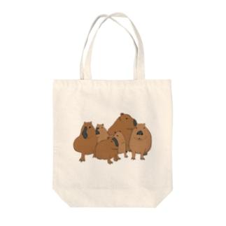 寄り添うカピバラ  Tote bags