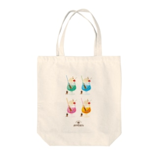 カワウソとクリームソーダ Tote bags