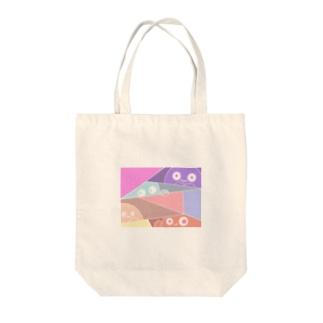 ひょっこりモンスター Tote bags