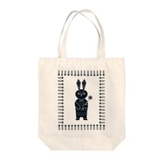 オハナヲドウゾ (ウサギ)(ナチュラル) Tote bags