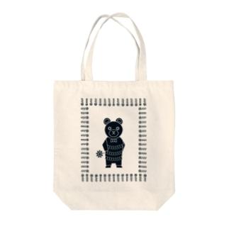 オハナヲドウゾ(クマ)(ナチュラル) Tote bags